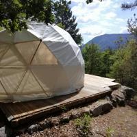 Dome géodésique ou tente bulle in paradise