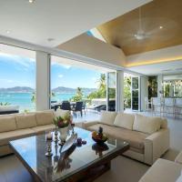 Luxury beachfront villa with private beach access