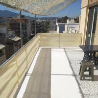rooftop studio near port and center WiFi/crib