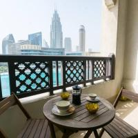 Arabian elegance with Burj Khalifa and Fountain view by Rich Stay Holiday Homes