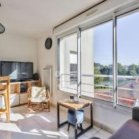Functional and charming studio with a nice view of the Erdre!