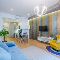 BpR Amber / Navy Design Apartments with A/C