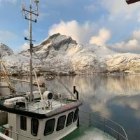 Apartment in fishery on the pier, Lofoten
