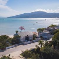 Casa de Férias Frente Mar em Canto Grande - 3 dorms 9 pessoas - Incrível Pôr do Sol