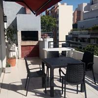 Apart- Departamento totalmente equipado con terraza y parrilla privada