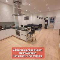 2 Bedrooms Appart Near European Parliament +Fee Parking