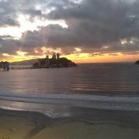 São Vicente em frente ao mar