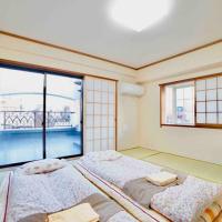 浅草寺3分、スカイツリーが真正面から見える大きなバルコニー付きの和室6F