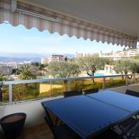 Appartement 5 personnes avec piscine sur la Corniche Fleurie à Nice