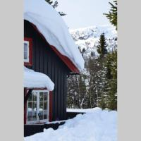 Familiehytte med ski in/out