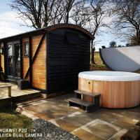 "pen-rhos luxury glamping ""The Hare Hut"""