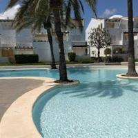 2 bedroom, Sea Front Complex w Pool and private garden
