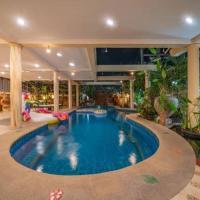 Jomtien beach 500m,Luxury Thai style ,pool Villa,BBQ,#118