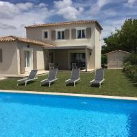 Jolie villa vacances climatisée avec piscine privée, proche du centre village de Mouriès à pieds, au coeur des Alpilles, LS1-302-Bouvino