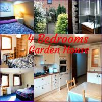 4 Bedroom Garden House -Optic Fiber WiFi & Parking