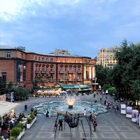 Yerevan, Abovyan Street Apartment facing Charles Aznavour square