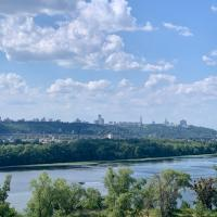 4 rooms apartment with a view to the Dnieper River