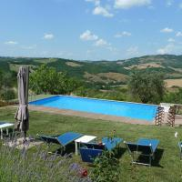 Villa with private swimming pool and garden in quiet area, panoramic views