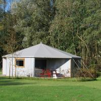 Special lodge tent with a wood stove, in the Achterhoek