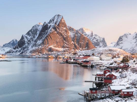 6 przepięknych, śnieżnych wysp
