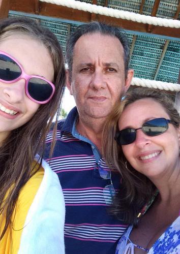 Otto Fraga Neto, Márcia e Beatriz de Almeida Fraga
