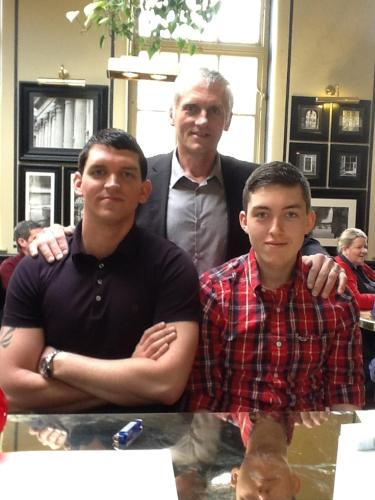 Nigel with sons Ben and Joe