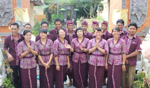 The wonderful staff at Awang Awang