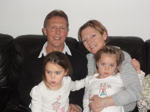 Fred & Betty with grandchildren Aisha and Mia