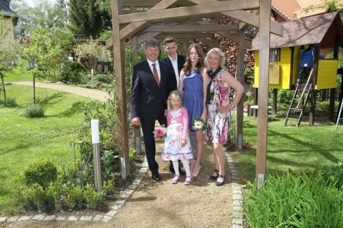 Frank und Silke Seckel mit Kindern Tobias, Carolin und Theresa