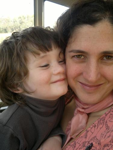 Soledad Quinterno e hijo