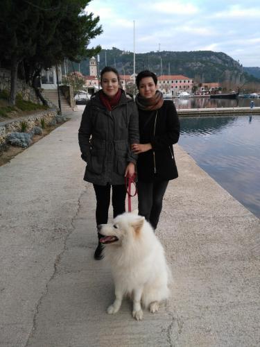 Lucija ( my daughter), Svjetlana Pulic and our Ozzy