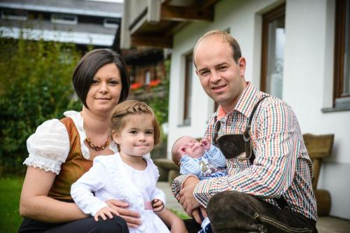 Kristina, Mia, Noah und Georg Stampfer