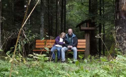 Bob and Norah enjoying a rest in the Black Forest.