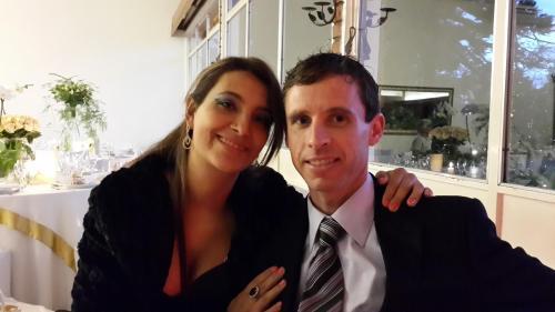 Alessandro Wagner e esposa