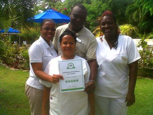 staff in the  garden!